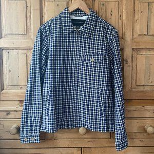 NWOT French Connection Small Blue Plaid Fullzip